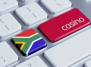 online gambling in south africa: image of keyboard with south african flag and word casino on Enter key