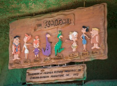 best flinstone slots View of the Flintstones Bedrock City theme park.