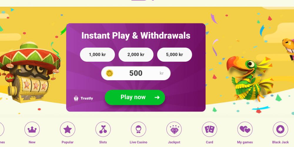 yoyo casino review homepage screenshot