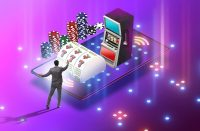 slot game odds Businessman in online casino concept